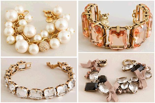 bridal bracelets from JCrew perfect alone or layered together