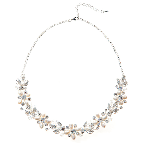 CLARA PEARL AND CRYSTAL NECKLACE