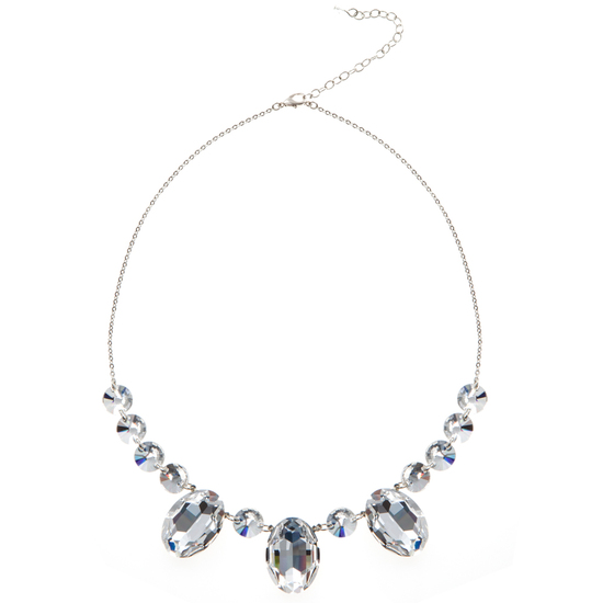 DELILAHK OVAL CUT CRYSTAL SWAROVSKI NECKLACE