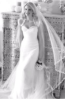 Gorgeous full mantilla veil worn with Pronovias strapless wedding dress