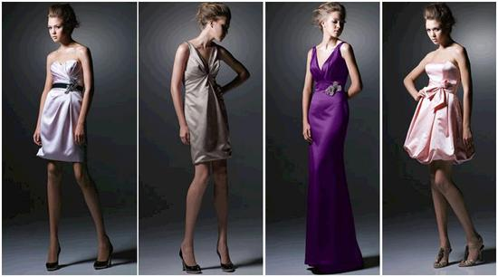 Chic, stylish luxurious bridesmaids' dresses: perfect for a fall or winter wedding