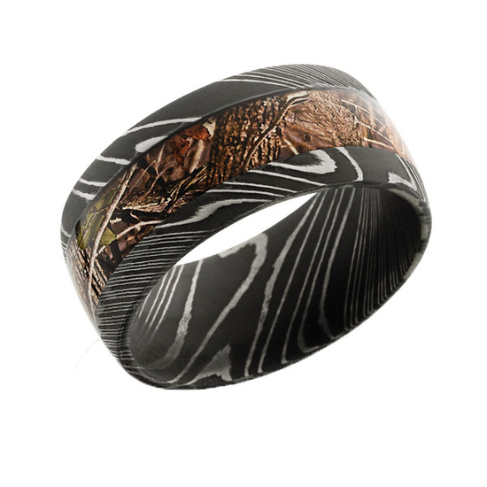 Damascus Steel Camo Ring at Camokix