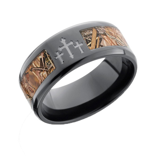 Black Camo Ring with Crosses at Camokix