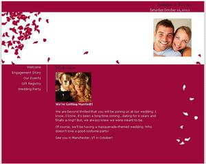 photo of Free Wedding Website: Share your Love Story and Dish your Wedding 411!
