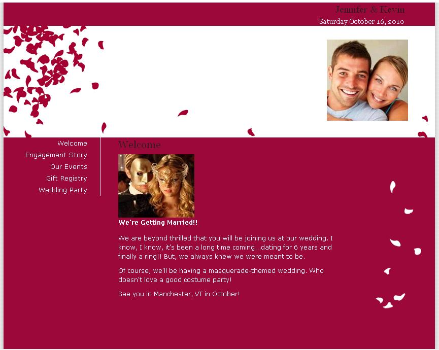 Share your love story and important wedding details with for Wedding picture sharing website