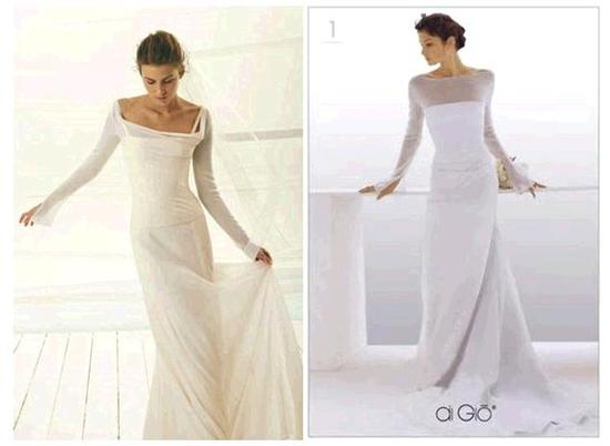 Sleeves that are long and straight on your wedding dress flatter your petite frame