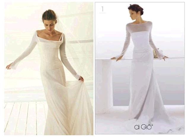 Sleeves that are long and straight on your wedding dress for Frame your wedding dress