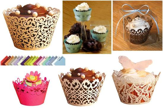 Beautiful cupcake wrappers for your cupcake tree- colors and designs for all types of brides!