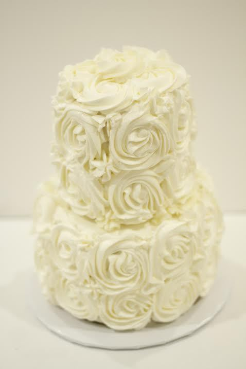 Rose Buttercream Tier Cake