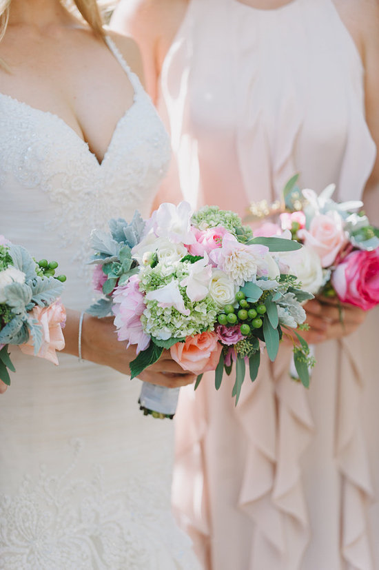 bride pink and blush bouquet