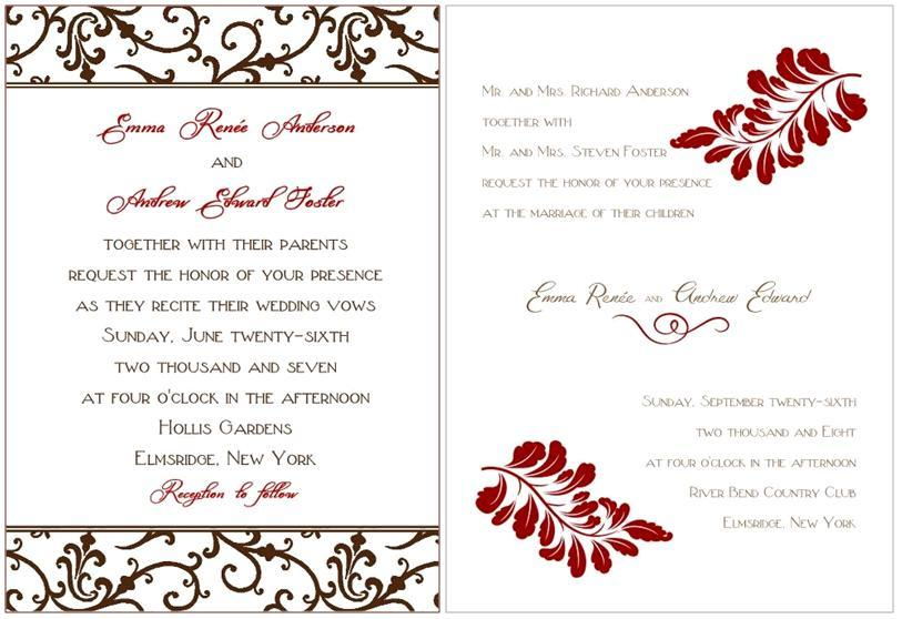 Whimsical-prints-wedding-stationery-save-the-dates-rehearsal-dinner-invitations-chocolate-brown-maroon-damask-grey.full