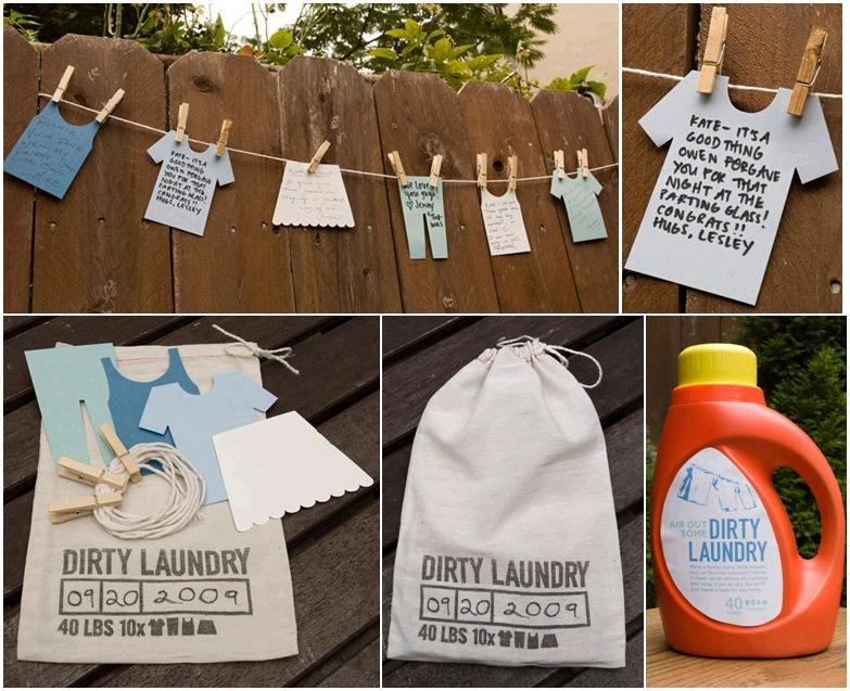fun game for casual outdoor wedding bridal shower bachelorette party the dirty laundry guest book