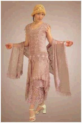 Wedding-dress-chemise-like-sheath-straight-vintage-inspired-dusty-rose-colored-flapper-feel.full