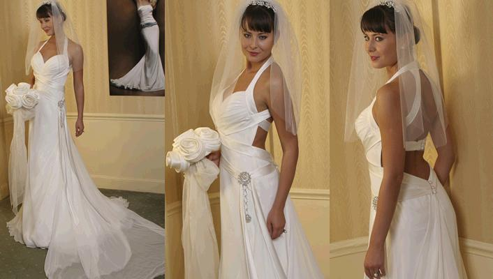 Stunning swoon wedding dress from amy michelson white for Wedding dress bling detail