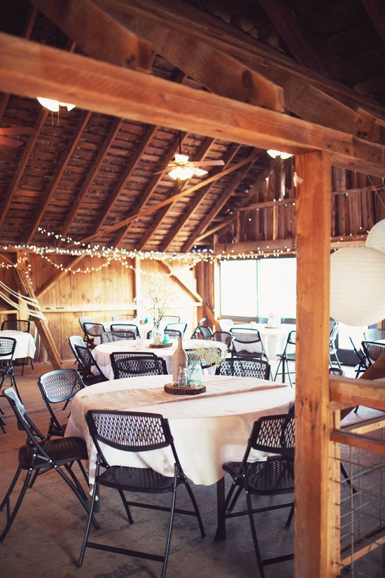 Second floor of the Wedding Barn. Photo by Sweet Tea Photography
