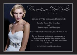photo of Calling Chicago Brides, Great Designer Wedding Dress Sale