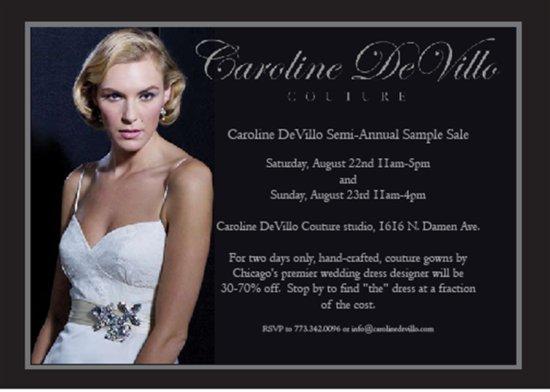 photo of Calling Chicago Brides, Great Designer Wedding Dress Sale
