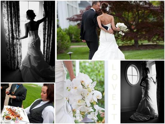 Vintage-inspired black and white photos of bride in window, wearing beautiful white wedding dress