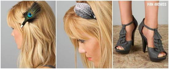 Chic and stylish hair accessories, headbands, and shoes for your bridesmaids