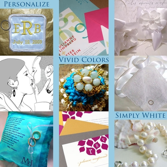 Popular wedding trends- bright, vibrant colors, personalization, and simply white- incorporate in yo