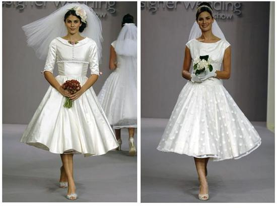 Candy Anthony wedding dresses- very full bias cut skirt and fitted bodice on grain