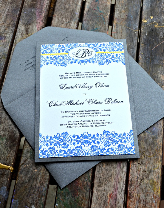blue-and-yellow-Damask-Letterpress-Invitation