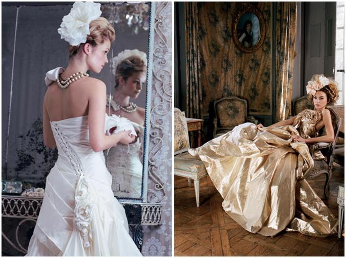 Incorporating-florals-into-your-wedding-dress-for-romantic-look-white-gold-corset-tie-up-back-large-floral-hairpiece.full