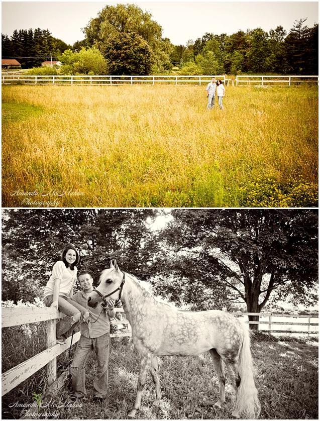 Outdoor-engagement-photo-shoot-farm-with-white-horse-stallion-casual-in-love-green-yellow-black-white.full
