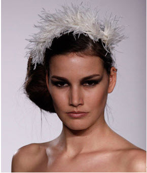Melissa Sweet: Bridal feather headband