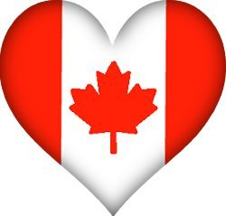 Image result for canada flag heart