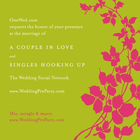photo of OneWed's Super New Wedding Pre-Party Marries Wedding Planning And Social Networking!