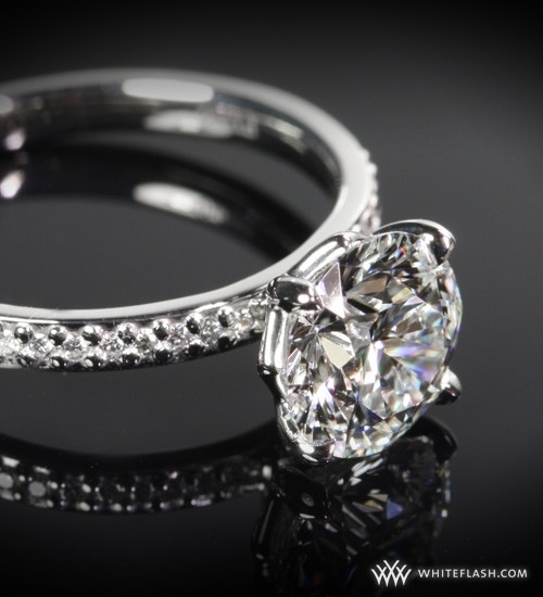 WhiteFlash engagement ring, 'Legato' Diamond, Micro Pave Setting