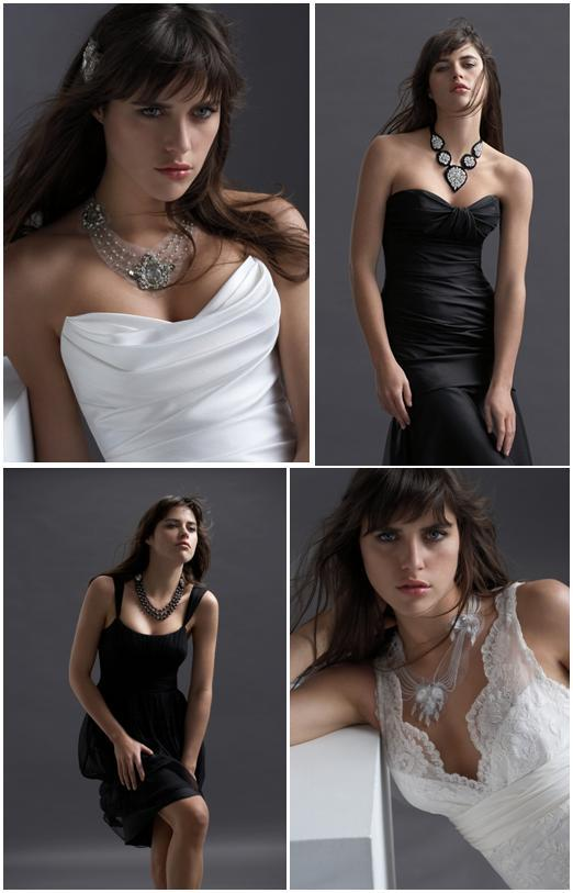 Gorgeous bridal and bridesmaid necklaces from Watters- pearls, rhinestones, and lots of bling, these