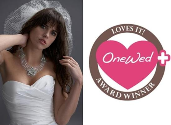 OneWed loves Watter made to order bridal jewlery line- stunning white, silver, pearl wedding necklac
