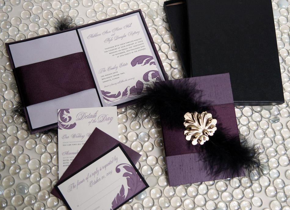 U2collection-couture-custom-wedding-invitations-stationery-etsy-purple-black-gold-silver-letterpress.full