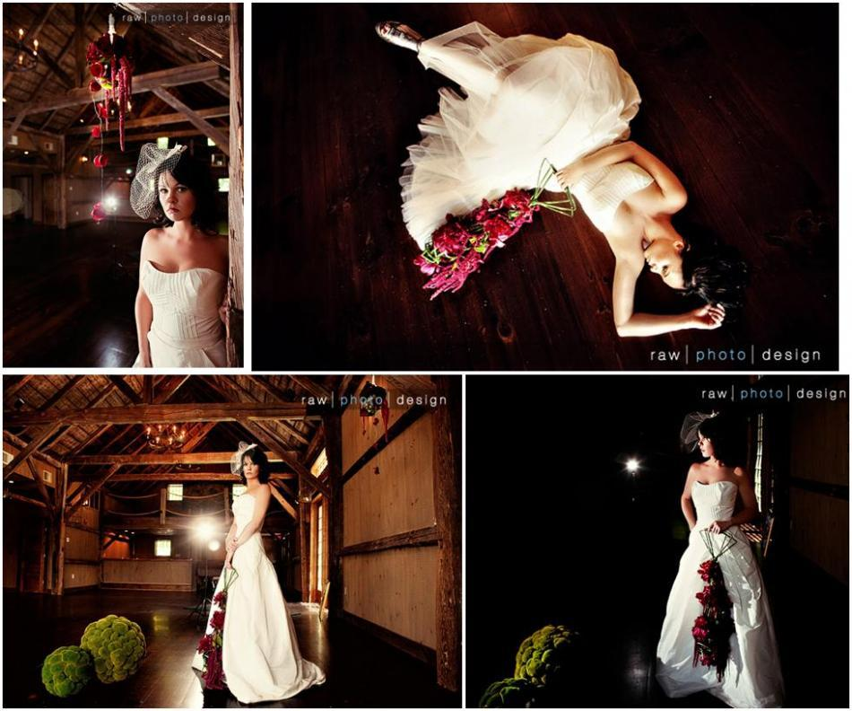 Helping-brides-find-the-light-raw-photo-design-bride-poses-in-dark-wood-cabin-fuschia-flowers-vintage-dress.full