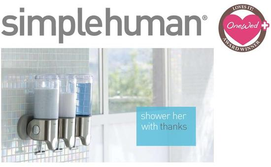 OneWed and simplehuman want to help you say thanks to your wedding helpers
