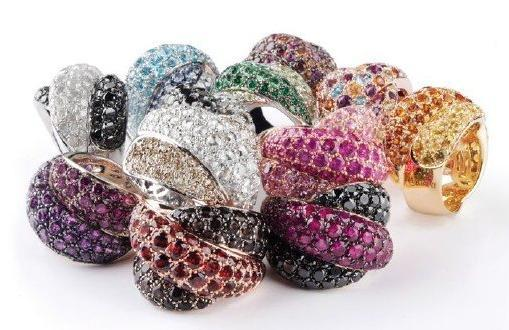 "Gorgeous ""Gomitolo"" rings from Italian jeweler Damiani- buy one and get a week long vacation to Ital"