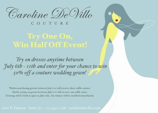 Calling Chicago Brides in Search of a Great Deal on a Wedding Dress!