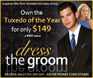 Tuxedo for $149 from Dessy Group and OneWed
