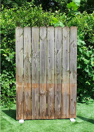 rustic fence section