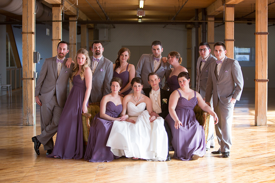 lavender wedding party at cheney place grand rapids michigan