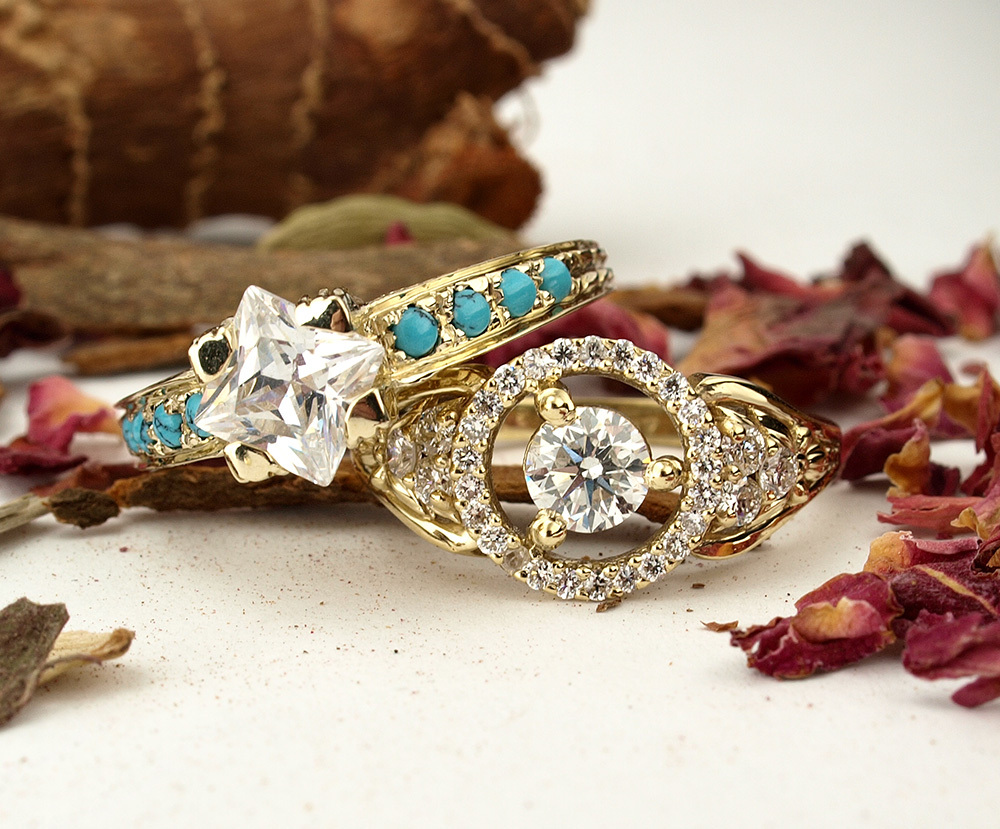 Unique Vintage Style Engagement Rings
