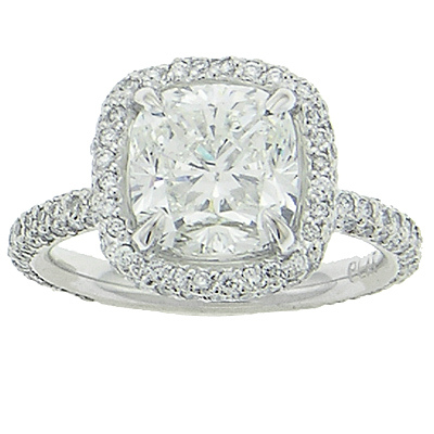 Micro Pave Engagement Ring AD4600
