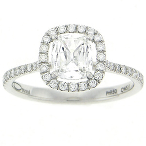 photo of Henri Daussi Engagement Ring CWS