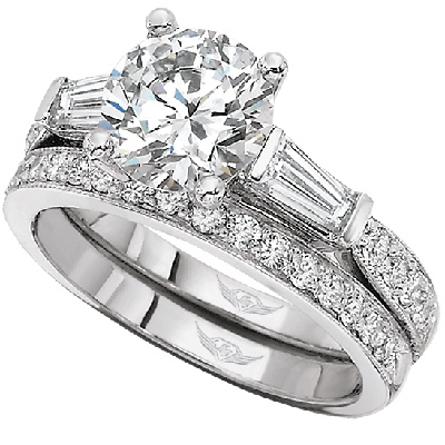 Martin Flyer Engagement Ring 4209FFCXWR