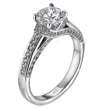 photo of Scott Kay Pave Diamond Engagement Ring