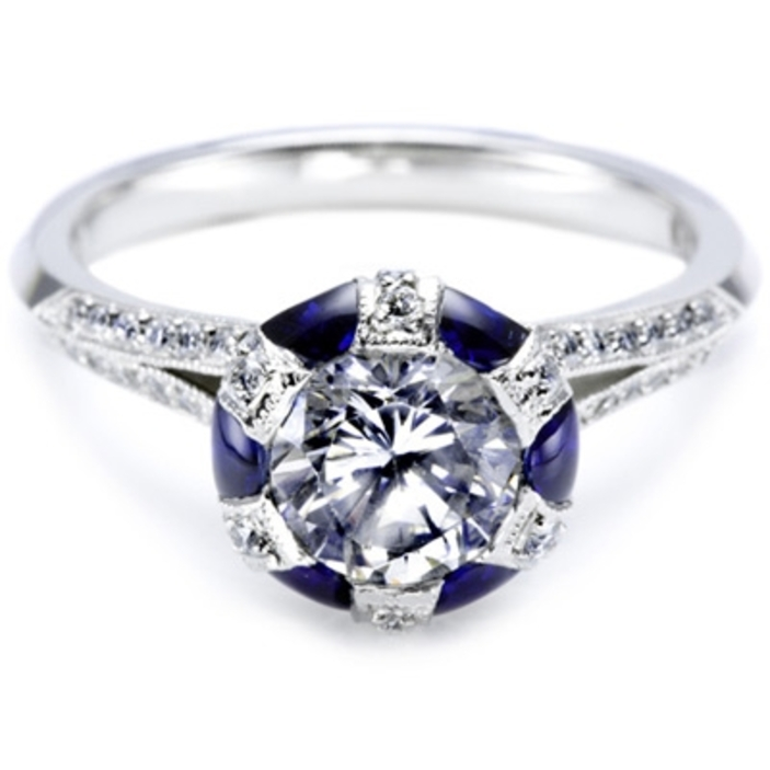 round diamond engagement ring blue wedding shoes