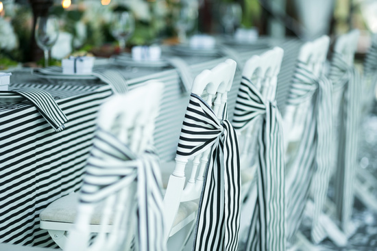 Black White Stripe Linens