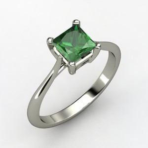 photo of Simply Princess Solitaire Engagement Ring